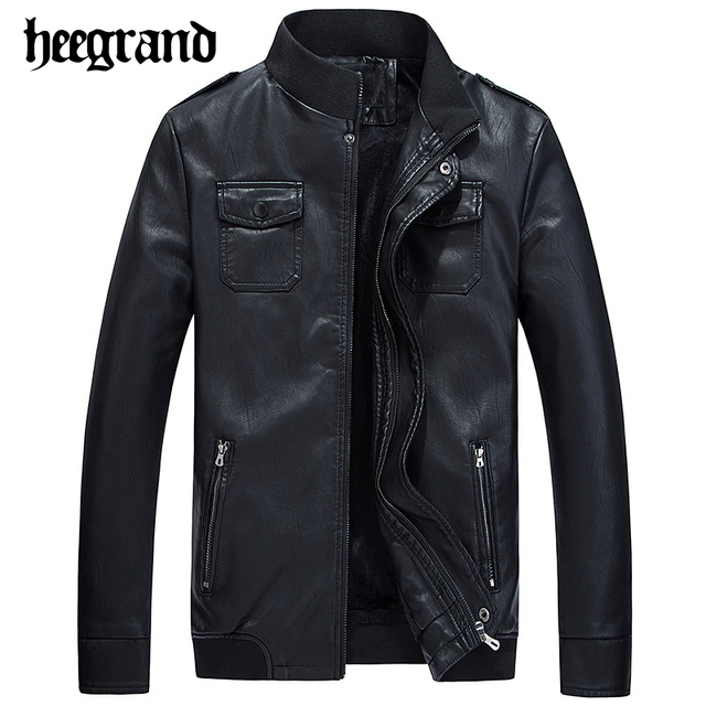 HEE GRAND 2017  Spring Men Leather Jackets Jaqueta De Couro Masculina Men's  PU Jacket And Coat MWP432