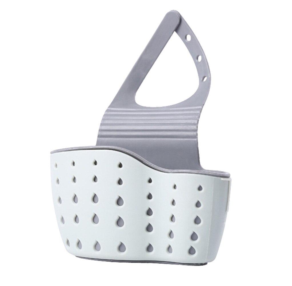 Nützliche Saugnapf Waschbecken Regal Seife Schwamm Rack Küche Sucker Storage Tool Küche utensilien sink drain korb beige @ 203