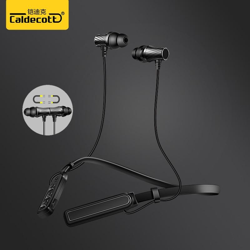 Hawoba 2018 new high-end sports bluetooth headset metal magnetic bass CSR 4.1 neck headp ...