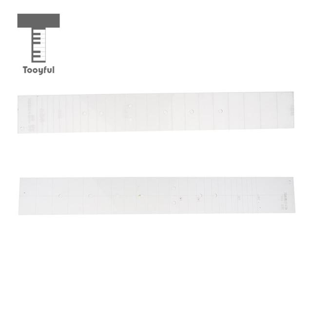 Tooyful Durable Acrylic Clical Guitar Fretboard Template Fingerboard Fret Mould Match Board Luthier Tool