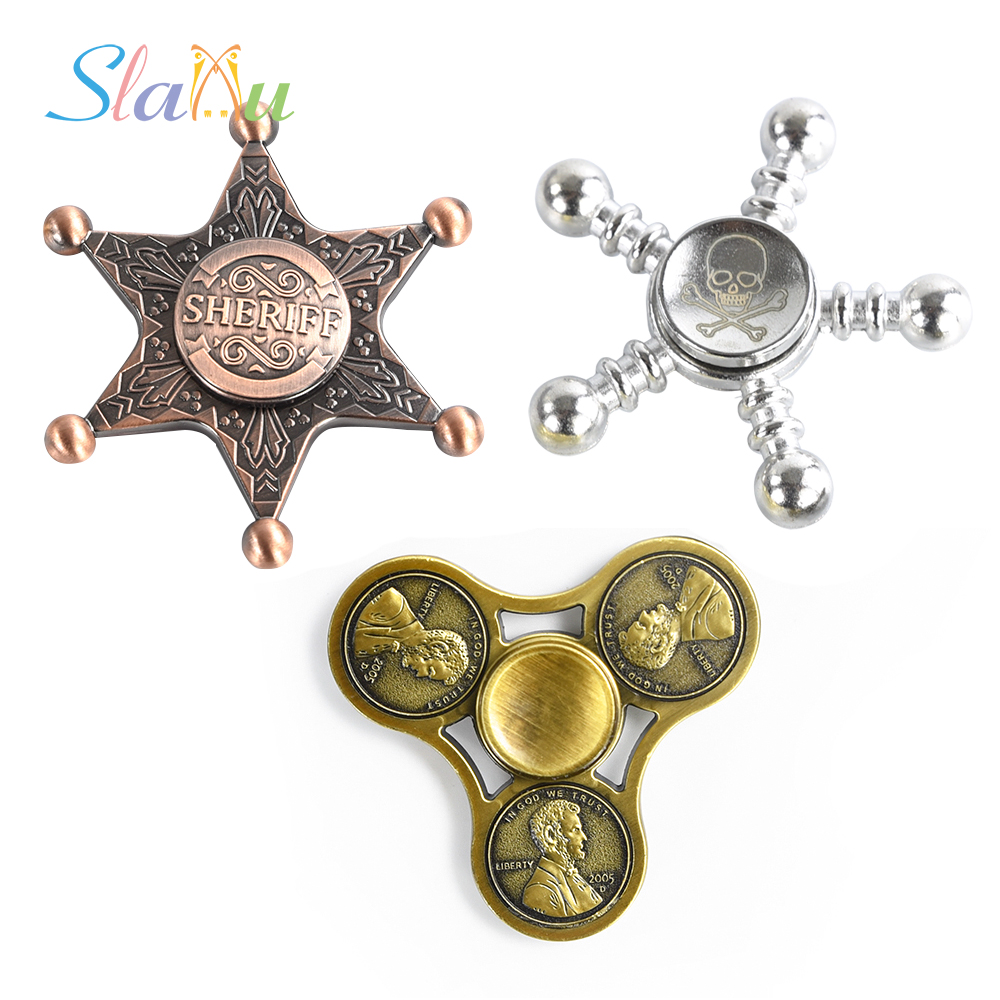 SLAIXIU Adults Metal Toy Fidget Spinner EDC Hand Spinner