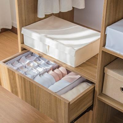 Домашняя корзина для хранения брюк и нижнего белья, органайзер для гардероба, органайзер для шкафа с крышкой из ткани Оксфорд, Коробка Для Хранения нижнего белья