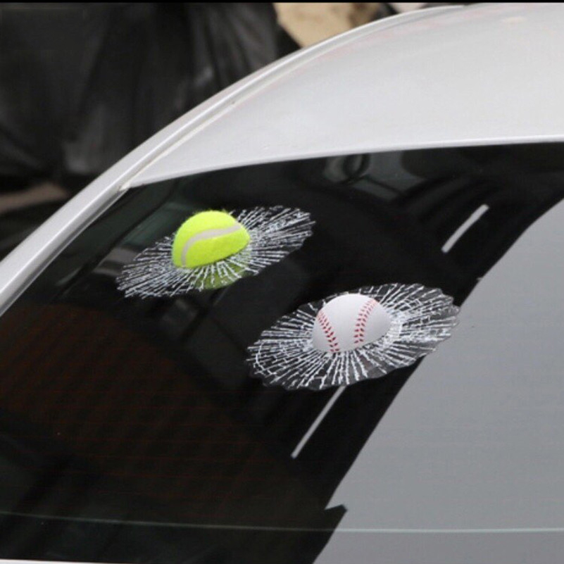 Waterproof 3D Car Sticker Ball Hits Car Window for Lexus RX300 IS250 RX330 GS300 IS200 GX470 LX470 RX350 NX LX570 RX 350 CT200H car carbon fiber spoilers sticker for lexus rx nx gs ct200h gs300 rx350 rx300 for alfa romeo 159 147 156 166 gt mito accessories