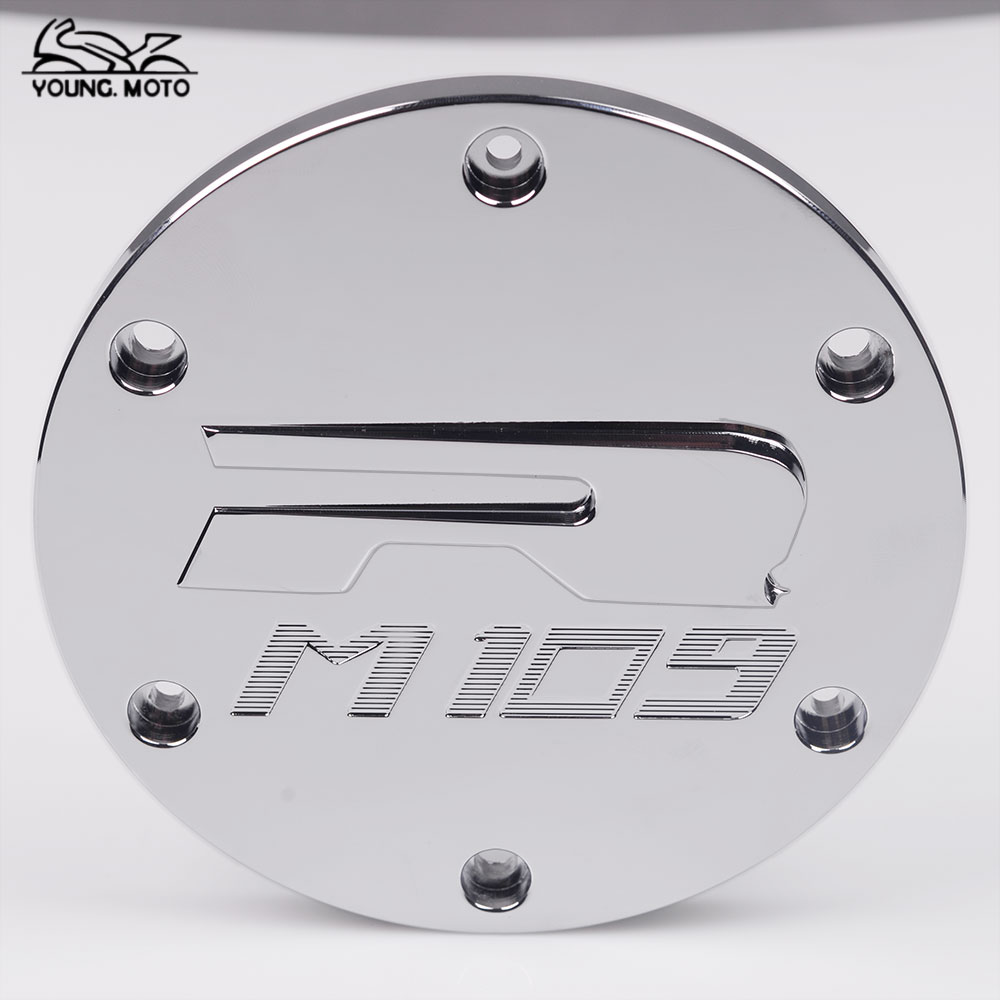 YOUNG.MOTO Motorcycle Billet CNC Aluminum Derby Cover Clutch Timing Timer Cover For SUZUKI Boulevard M109R VZR1800 2006-2014 nicecnc cnc billet brake clutch