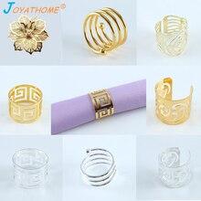 Joyathome 12pcs Napkin Buckle Napkin Ring Serviette Rings Napkin Holder Dinner Towel Ring for Table Decoration Porta Sevilletas