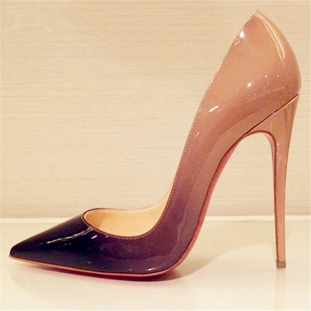 Hot High Heels shoes Women Paint Leater Shoes Sexy Pointed Stiletto Women Wedding Shoes High Heels Women's Pumps