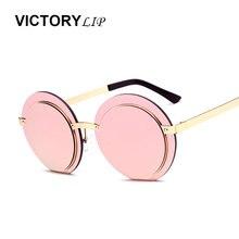 Victoria Li Ronda Gafas de Sol de Las Mujeres Diseñador de la Marca de Luz de Aleación De Gafas de Sol Mujer Gafas Tamaño Pequeño gafas de sol mujer