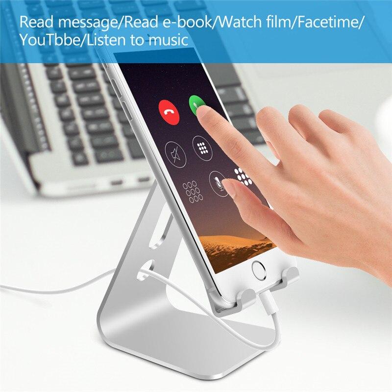 Подставка-держатель для телефона iPhone Xs X 7 8 из алюминиевого сплава подставка для мобильного телефона для Samsung Tablet PC подставка Настольный дер...