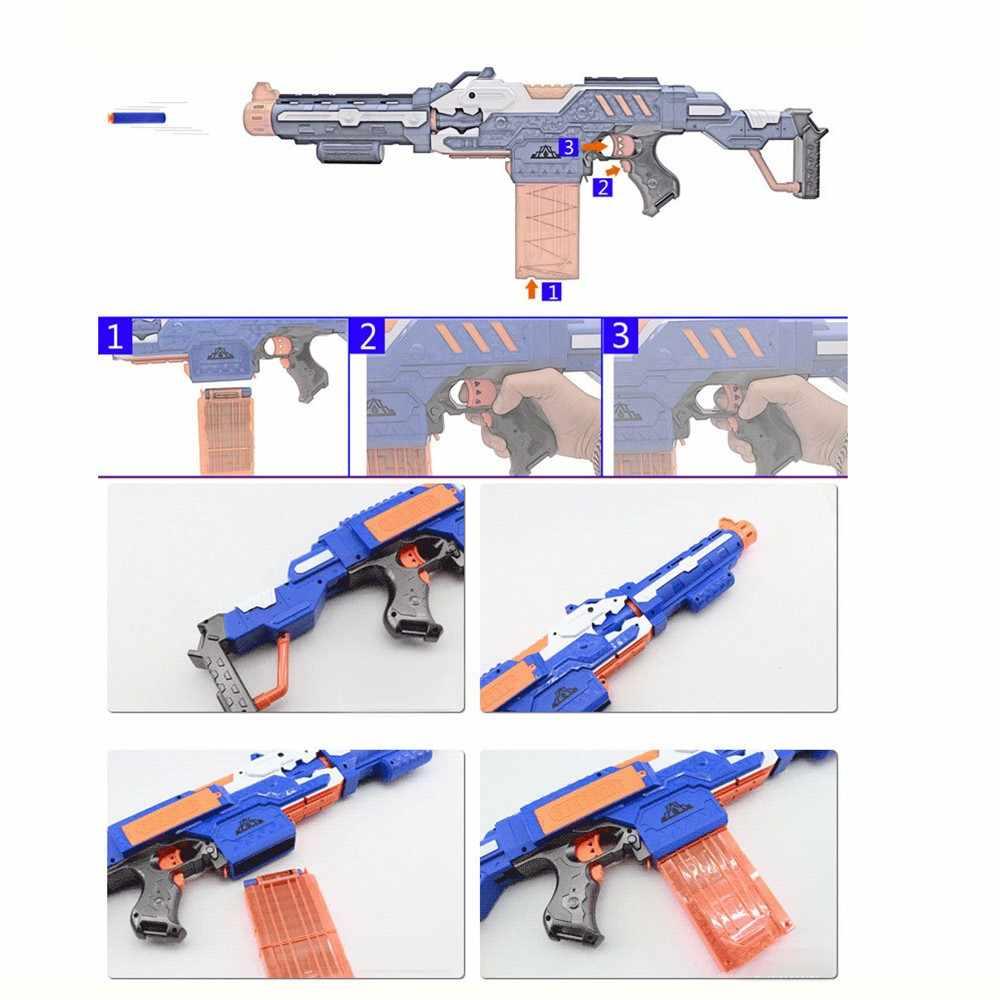 Elektronische Machinepistool Speelgoed Pak voor NERF Zachte Kogel Pistool Rivaal Elite Serie Outdoor Fun & Sport Speelgoed Gift voor kids Boys Gift