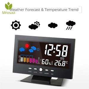 Mrosaa LCD Digital Alarm Clock
