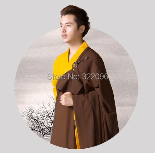 ea0b14beb Shanghai Story brand linen buddhist clothes lay clothing Monk robes Brown  lay five precepts Bodhisattva precepts