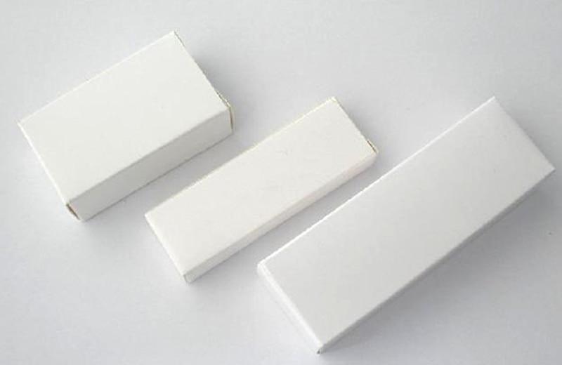 40e5ef48f 50 unids la caja USB blanco productos electrónicos embalaje papel de  embalaje de regalo caja de regalo del papel blanco 4.33x0.15X0.99 pulgadas  110x80x25mm