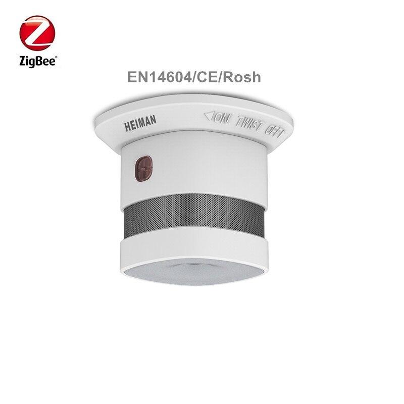 Heiman Wireless Zigbee Smart Anti-fire Alarm Smoke Sensor Smart Home Sensors With CE ROSH EN14604 Approved