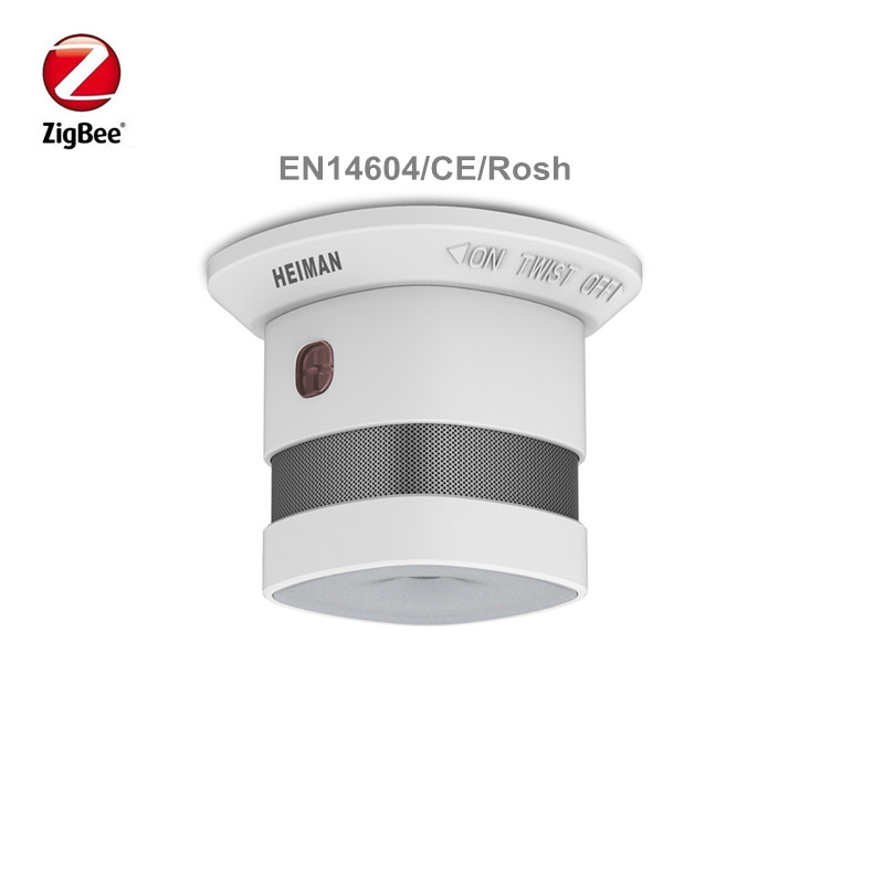 Heiman Wireless Zigbee Smart Anti-fire Detector Alarm Smoke Sensor Smart Home Sensors With CE EN14604 ROSH Approved