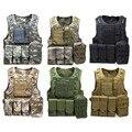 Camuflaje Caza Táctico Militar Wargame Chaleco Body Armor Molle Chaleco De Caza CS Equipo Al Aire Libre de la Selva con 7 Colores