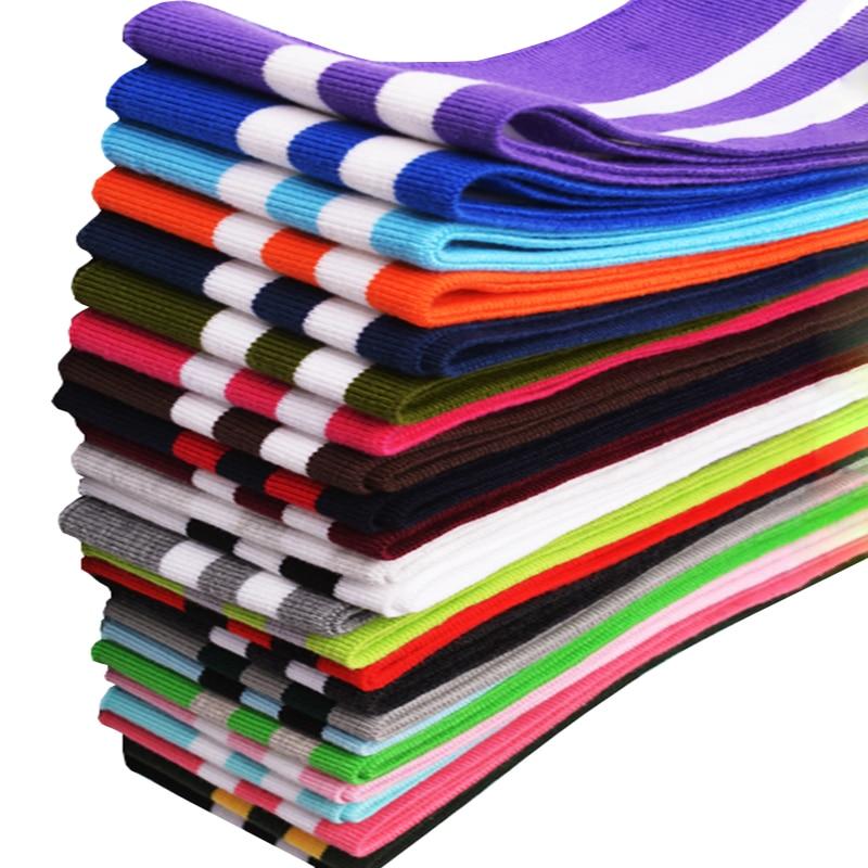 2Pcs 6.5*78CM Cotton Stripe Knit Rib Trimming Fabric For Jacket Waistbands Cuffs Collar Hem