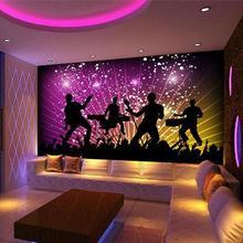 3d wallpaper custom Non-woven Dazzle colour band KTV enterta