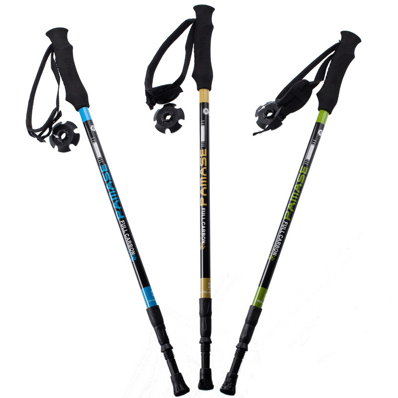 цена на 155g/pc carbon fiber walking stick hike telescope stick nordic walking stick for nordic walking poles trekking poles cane