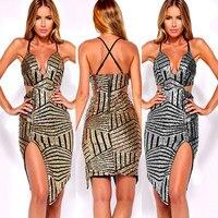 New 2016 Brand High Quality Strapless Club Dress Gold Blocking Women Short Dress Sexy Summer Dress