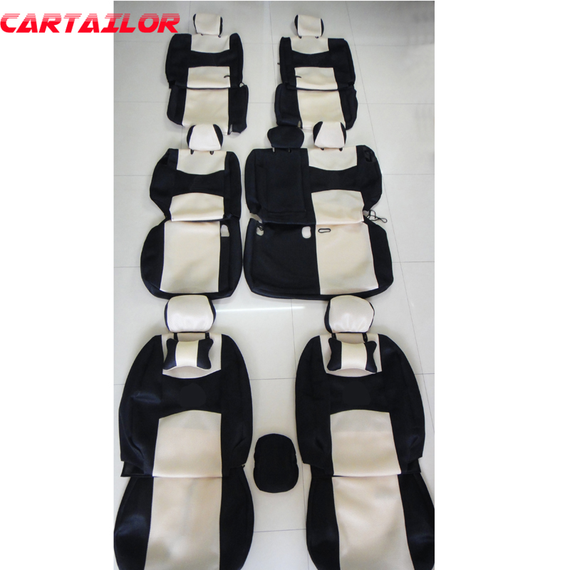 CARTAILOR seat covers for mitsubishi pajero sport 2011 2013 car seat cover accessories set ventilated mesh