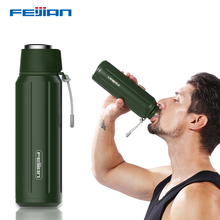 FEIJIAN 600mL Thermos bottle Double Wall Vacuum Insulated Water Bottle Travel Mug Coffee Cup camping Flasks sports thermomug