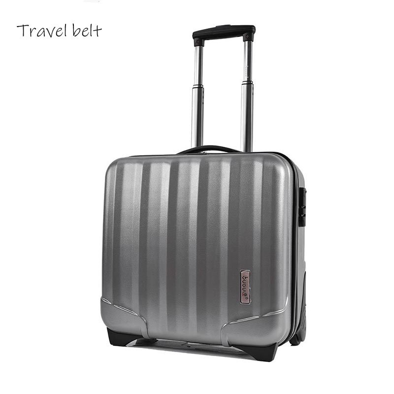 Travel Belt Computer Rolling Luggage Spinner 18 inch Men Business Travel Bags Wpmen Cabin Suitcase Wheels Trolley