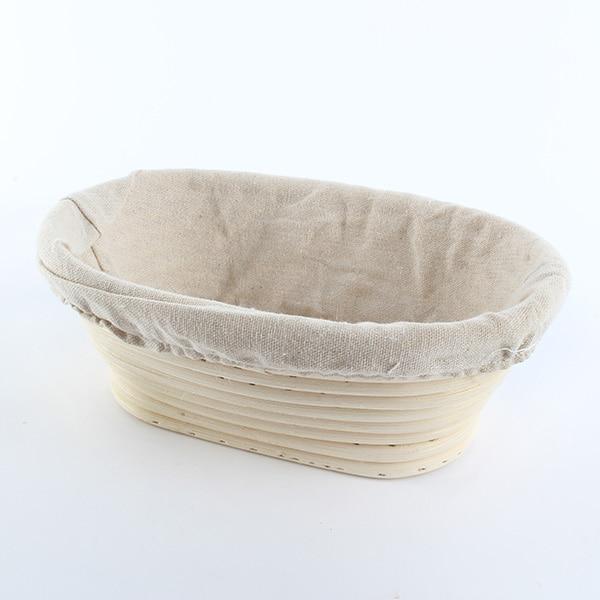 2017 Fashion Oval Banneton Brotform Cane Bread Dough Proofing Proving Rattan Liner Basket