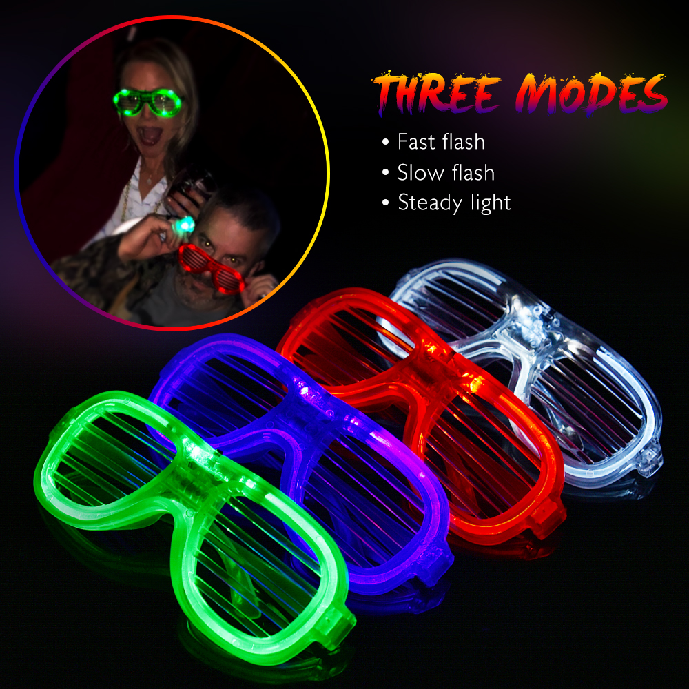 Men's Glasses Well-Educated Led Wire Glasses Light Up Glow Sunglasses Eyewear Shades For Nightclub Party Night Vision Glasses