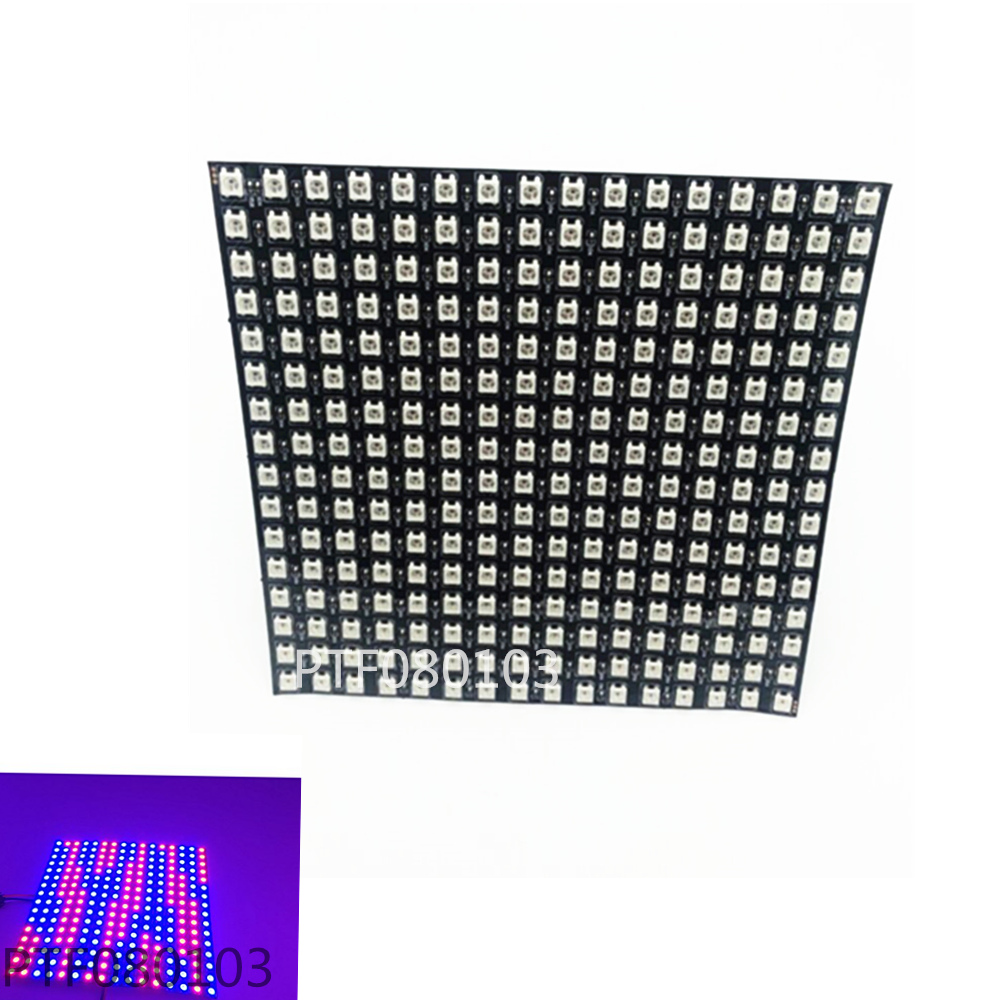 Matrix 16*16 Pixel 256 Pixels WS2812B WS2812 Digital Flexible LED Panel Individually Addressable 5050 RGB Full Dream Color DC5V ws2812b 4 4 16 битный полноцветный 5050 rgb светодиодные лампы свет панели для arduino