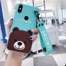 For Xiaomi Redmi Note 5 case redmi 5 plus Case 3d cartoon bear strap Protection Shockproof for Redmi Note 5 pro redmi note 4 цена и фото