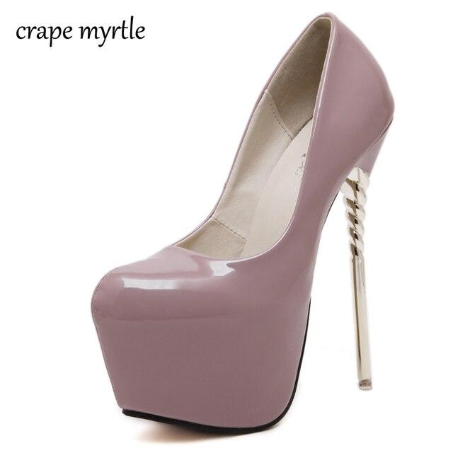 outlet store 271a5 789ed US $25.86 33% OFF|Lila schuhe high heels pumps frauen plattform heels nackt  pumpen rot hochzeit schuhe sexy pumps frauen schuhe heels größe 34 40 ...