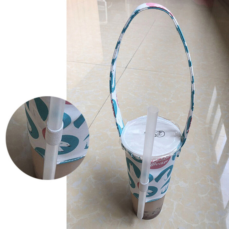 Waterproof Portable Cup Holder Cotton Fashion Multifunctional Cup Holder with Straw Outdoor Travel Supplies