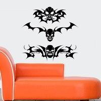 Skull Halloween Sticker Punk Death Decal Devil Poster Name Car Window Art Wall Decals Parede Decor Mural