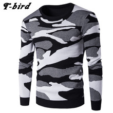 Sweater Men 2017 Brand Three-Color Pullover Camouflage Sweater Male O-Neck Slim Fit Knitting Mens Sweaters Man Pullover Men XXL