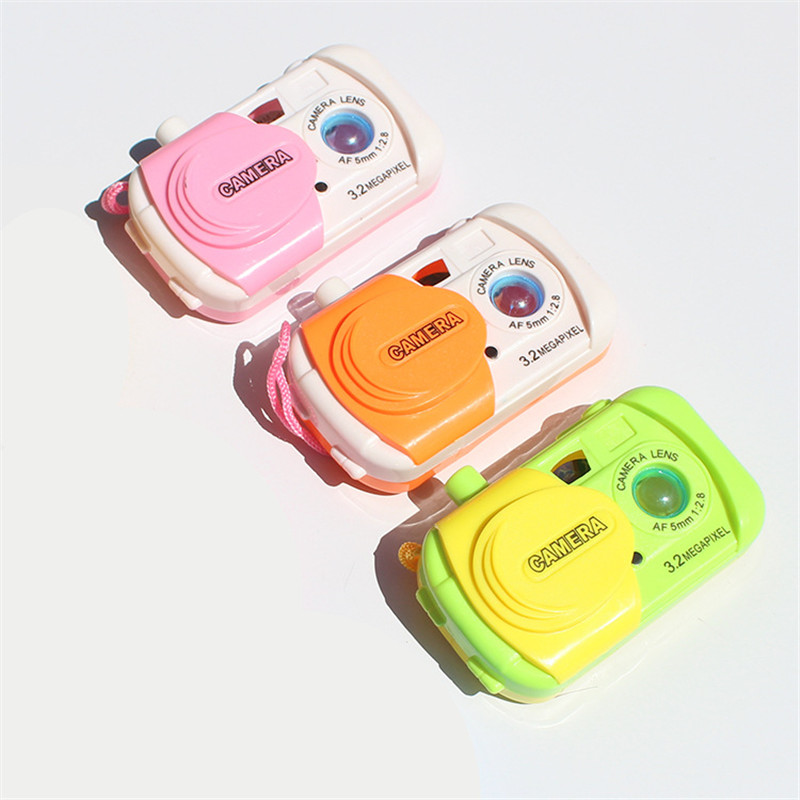 """3.3*1.6""""/8.5*5cm Creative Kids Projection Simulation Camera Intellectuall Toys Children Learning Study Toy"""