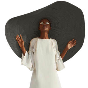 Fashion Large Wide Brim Sun Hat Beach Anti-UV Sun Protection Foldable Cap Cover women leisure holiday big beach hat