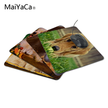 MaiYaCa Quality Luxury Printing Golden Retriever Puppy Game Design Gaming Anti-slip Laptop Mouse Mat for Optical/Trackball Mouse
