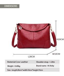 Image 5 - 2018 Hot High Quality Women Handbag Luxury Red Messenger Bag Soft Genuine Leather Fashion Ladies Crossbody Bags Female Bolsas