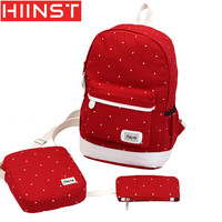 HIINST Backpacks Female Zipper Canvas Backpack Women Teenagers Style Composite Bags High Quality Backpack Female Flower