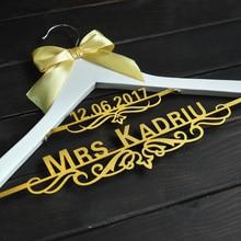 Персонализированные Свадебная Вешалка с датой Свадебная Вешалка Невеста на заказ платье вешалка