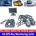 720 P high definition audio und video 4 kanal SD karte PAL/NTSC system 4G GPS bus überwachung set große lkw/schwere maschinen-in Auto-Multi-Angle-Kamera aus Kraftfahrzeuge und Motorräder bei