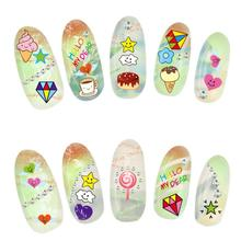 1pcs Nail Art Stickers Monster Series 3D Nail Sticker Fashion Stamping Manicure Women DIY Decoration Beauty Tool Kits JU18.