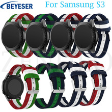 Nylon Wrist Strap for Samsung Gear S3 Frontier Watch bands 22 mm For Samsung Gear S3 Classic Replacement Bracelet belt watchband 18 colors rubber wrist strap for samsung gear s3 frontier silicone watch bands 22 mm gear s3 classic replacement bracelet band