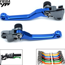 Universal Adjustable Dirt Bike Motorcycle Brake Clutch Levers FOR YAMAHA SEROW225/250 00-15 WR250R/X 07-16 WR450F 01-18 WR250F