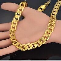Mannen Lange Collier Vintage bijoux Vintage Gold Kleur Chunky Linked Collier Mannen Sieraden XL248ST Mannelijke Kettingen
