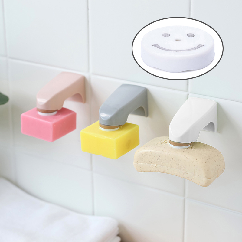 Stainless Steel Magnetic Soap Holder Adhesion Wall Soap Dish Sink//Bathroom