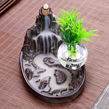 Creative Ceramics High Mountain Water Backflow Incense Burner Furnace Line Hydroponic Container Ornaments