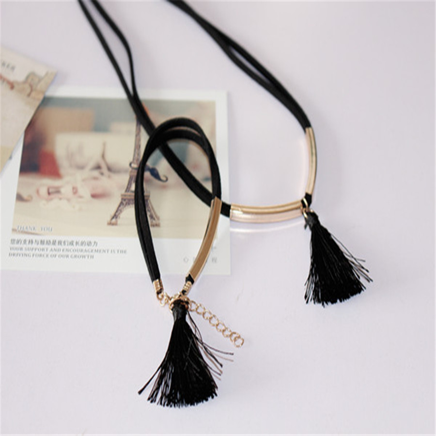 product Free shipping Tassel antler leather cord necklace bracelet adorn article