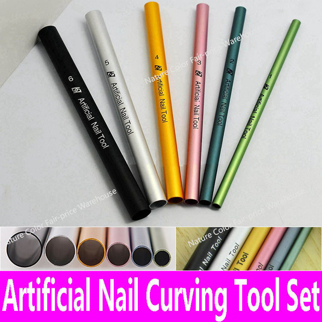 6pcs Artificial Nail Tools Art Uv Acrylic Curving Shaping Set Manicure French Tips