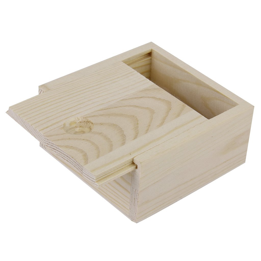Small Plain Wooden Storage Box Wood Case for Jewellery Small Gadgets Gifts